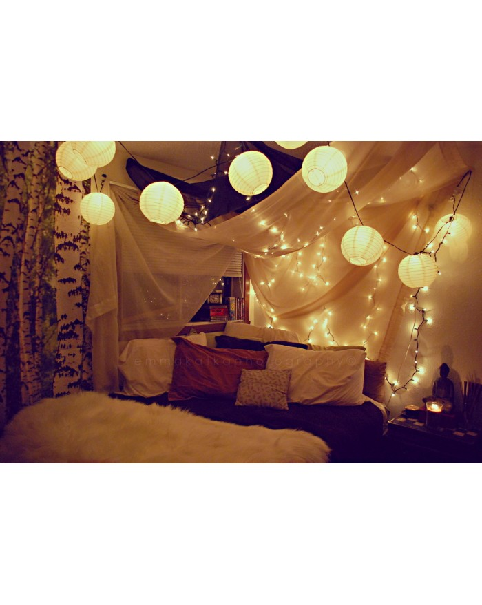 Paper Lantern  Decoration with LED lights and Balloons