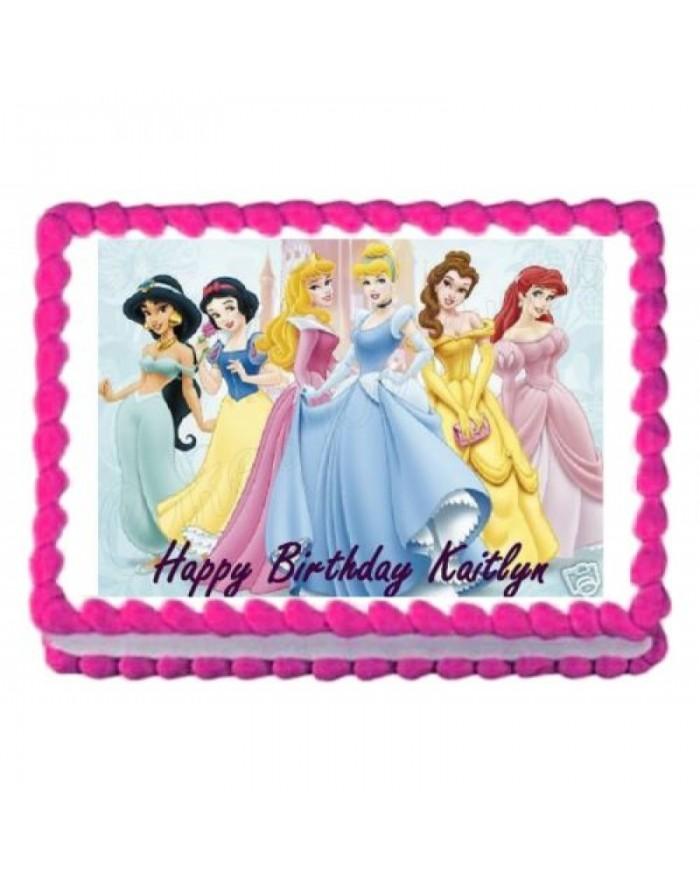 Disney Princess Theme Photo Cake