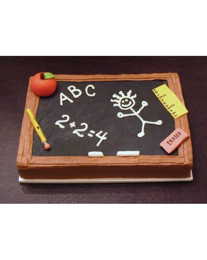 Blackboard Teacher Day Cake