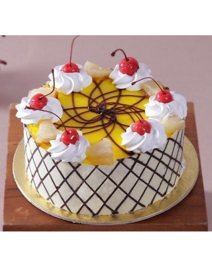 Online Designer Pineapple Cake Delivery In North Delhi Noida Gurgaon