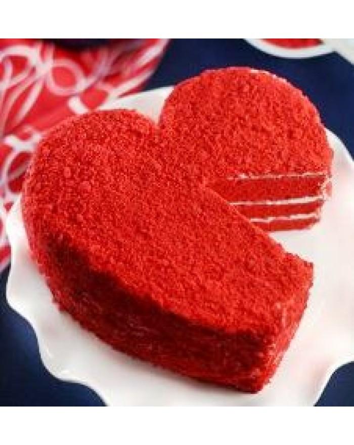Heart Shape Red Velvet Cheesecake