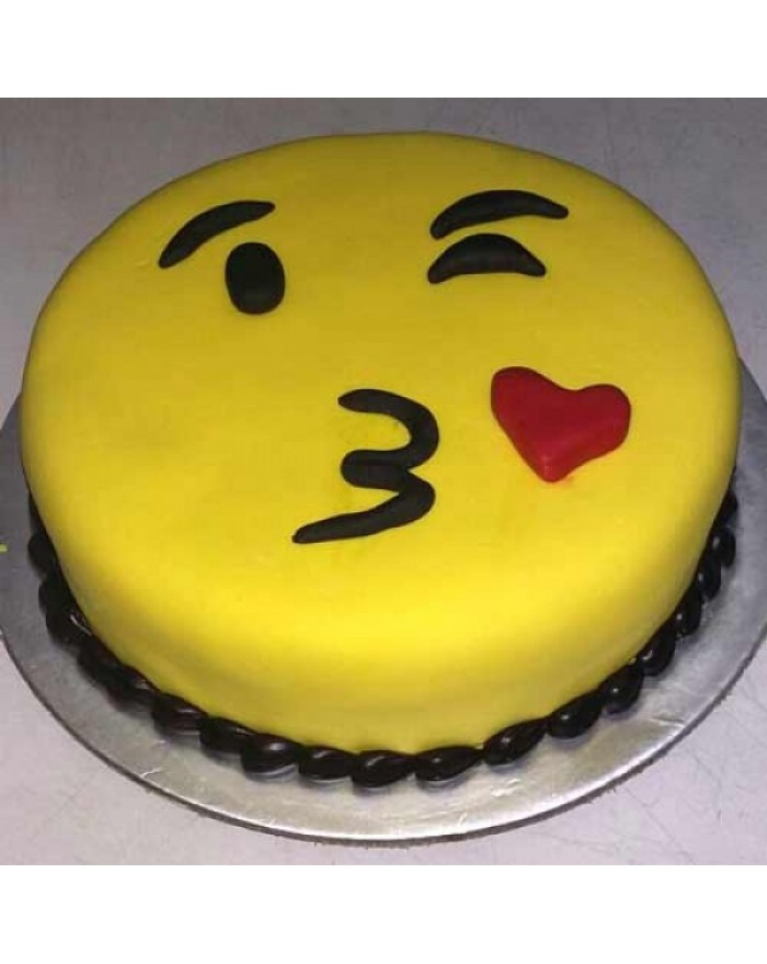 Pineapple Emoji Kiss Cake