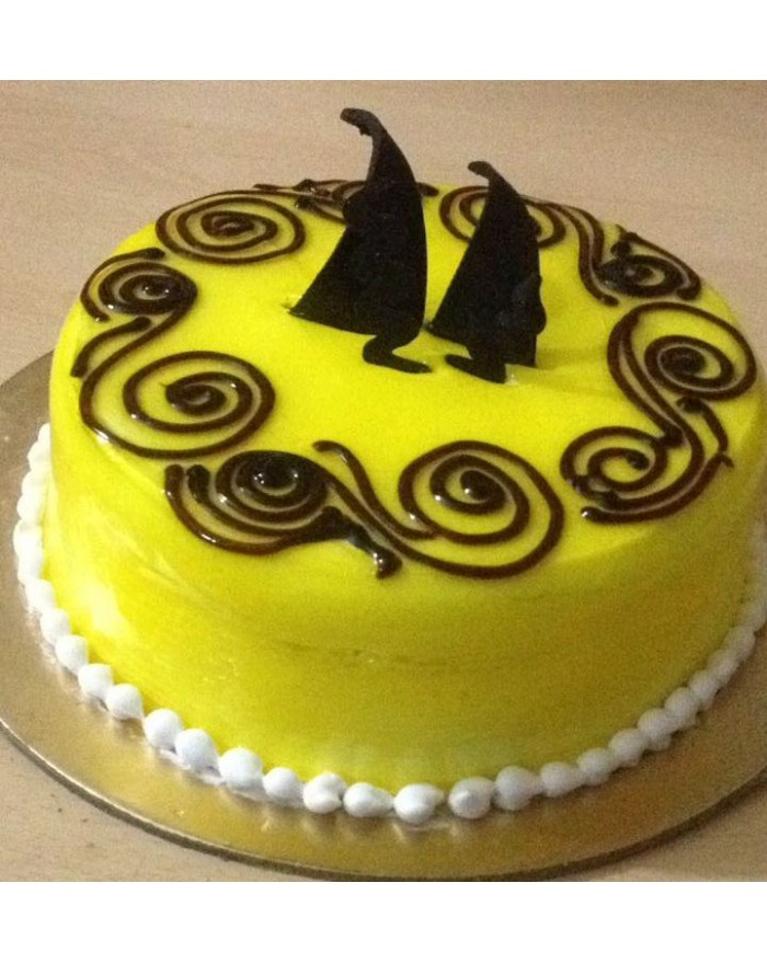 Designer Choco Pineapple Cake Delivery North Delhi Noida Gurgaon