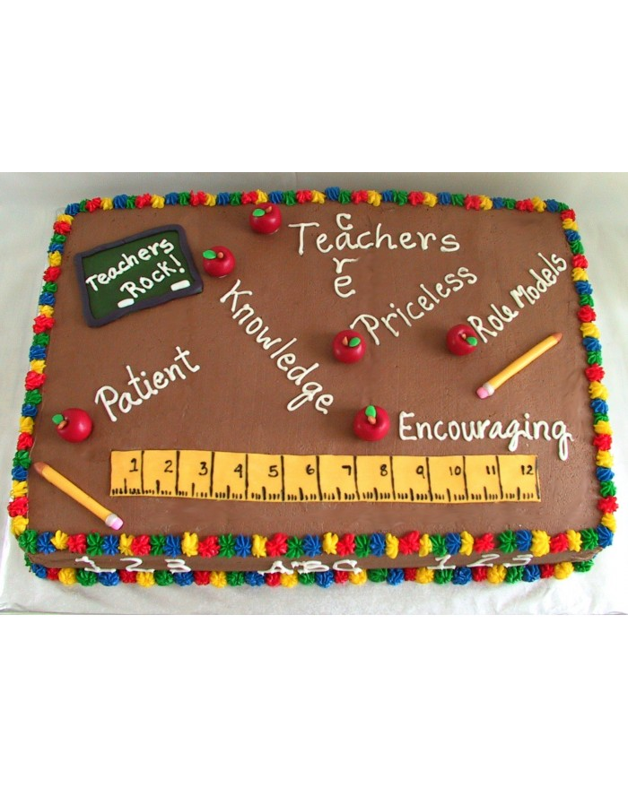 Teacher Rocks Chocolate Cake