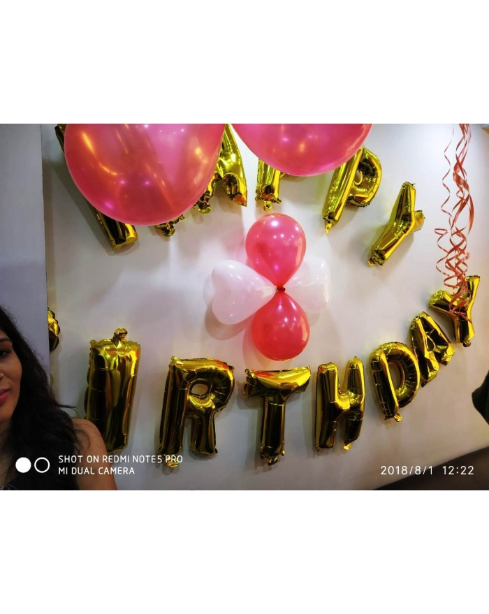 200 Balloons with Happy Birthday /Anniversary Foil