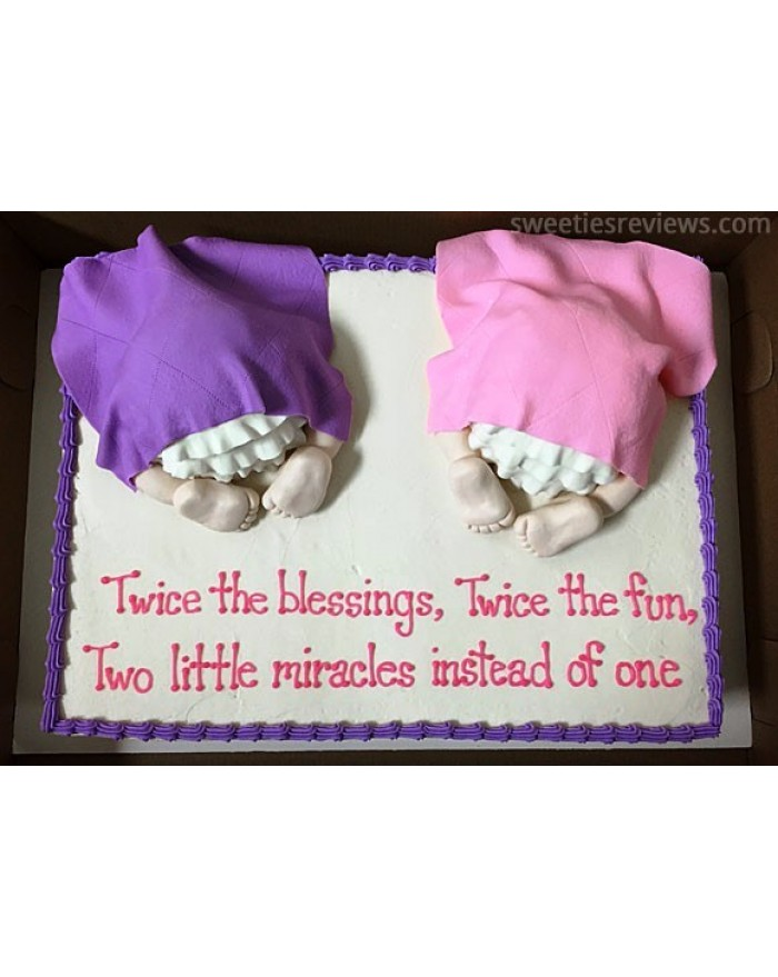 Cake For Twin Babies 2 kg