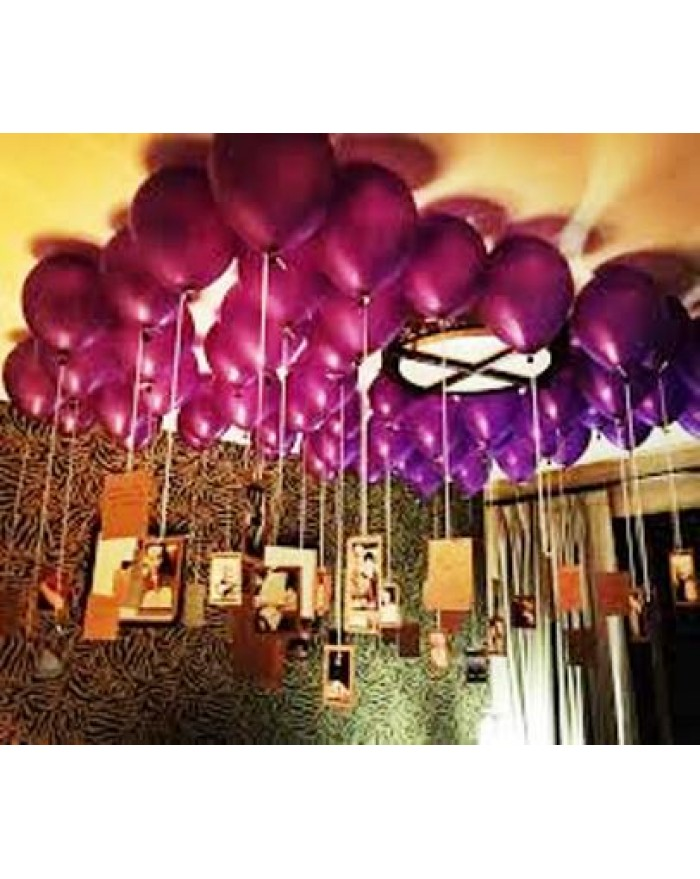 Metallic Balloons decor with Rose petals
