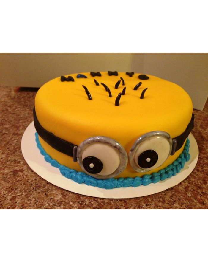 Minion Eyes Cake 1 kg